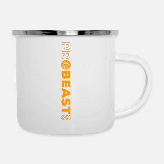 Work Out Mugs & Drinkware - Pro Beast On - Enamel Mug white