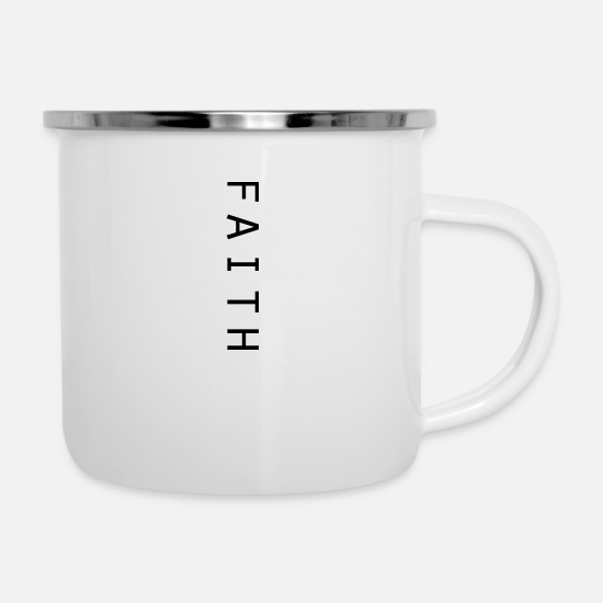 Trust Mugs & Drinkware - faith - Enamel Mug white