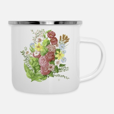 Homedecor flowers - Enamel Mug