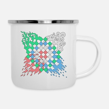 Element Elemente Motiv - Emaille-Tasse