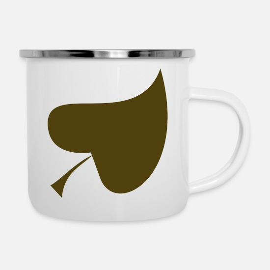 Forest Mugs & Drinkware - leaf - Enamel Mug white