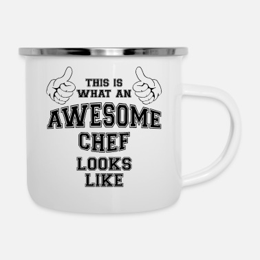 This is what an awesome chef looks like Gifts - Enamel Mug