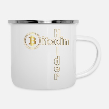 Holdem Bitcoin Holder - Emaille-Tasse