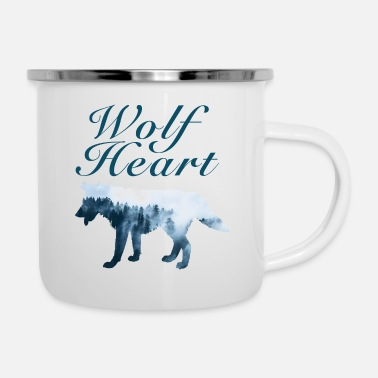 Outdoor Wolf Heart Wilderness Outdoor Sport Gift Forest - Emaille mok