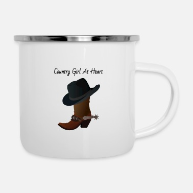 Country Country At Heart - Enamel Mug