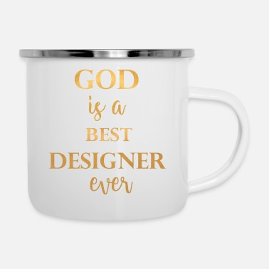 Prayer God designer gold - Enamel Mug
