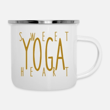Meditation Sweet Yoga Heart - Enamel Mug
