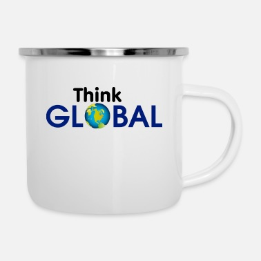 Global Think Global / global - Enamel Mug