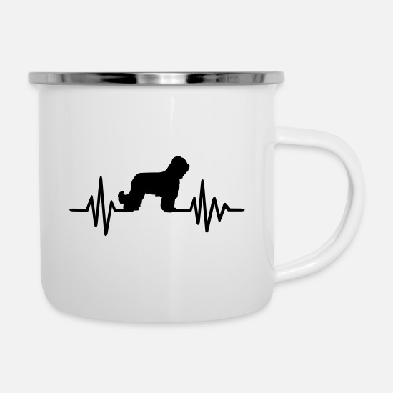 Race Mugs & Drinkware - Briard - Enamel Mug white