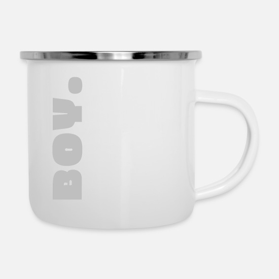 Gift Idea Mugs & Drinkware - BOY. - Enamel Mug white