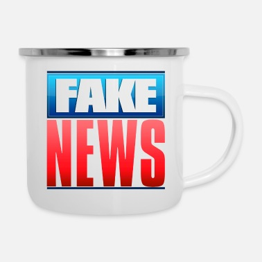 Fake Fake News Network Logo - Emaille mok