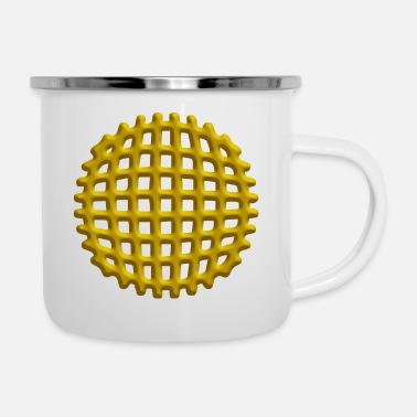 Shape 3D Orb ball - Enamel Mug