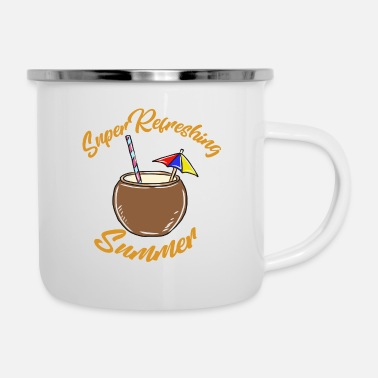 Mask Coconut summer - Enamel Mug