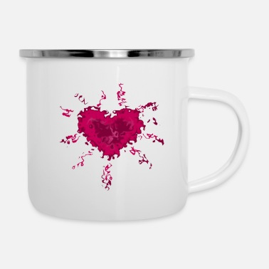Berry heart - Enamel Mug