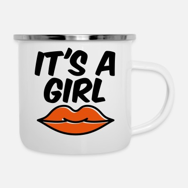Its A Girl It's a GIRL - Emaille-Tasse