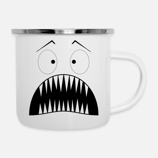 Children Mugs & Drinkware - Monster surprised - Enamel Mug white