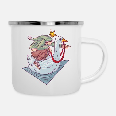 Grimm Brothers Grimm The golden goose fairy tale - Enamel Mug