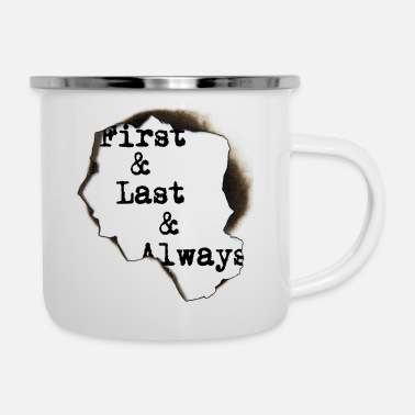 First & Last - Emaille-Tasse