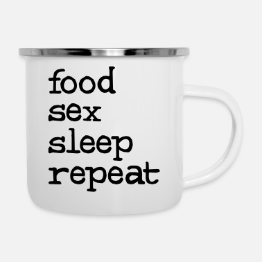 food sex sleep repeat - Mug émaillé