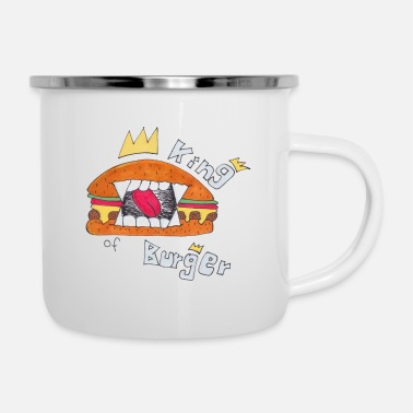 Burger Jersey-Beanie King of Burger - Emaille-Tasse