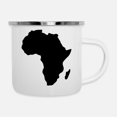 Afrika africa silhouette - Emaille-Tasse