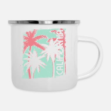 Hollywood California 60's style - Enamel Mug