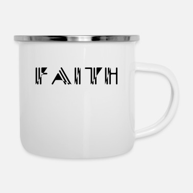 Strich Faith Strich Stil - Emaille-Tasse