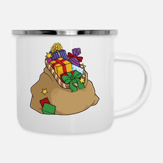Birthday Mugs & Drinkware - Nicholas Sack presents - Enamel Mug white