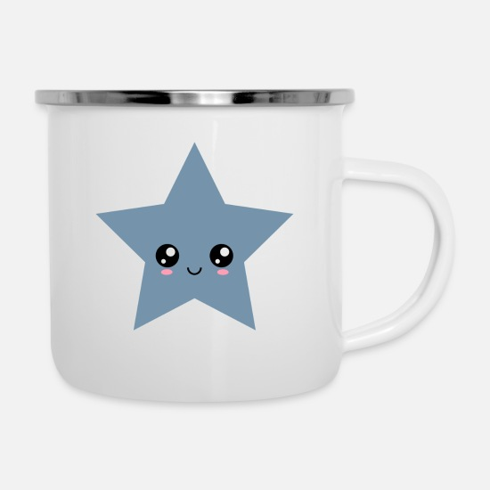Comics Mugs & Drinkware - Star Kawaii, face, Manga, Comic, Comics, Anime, - Enamel Mug white