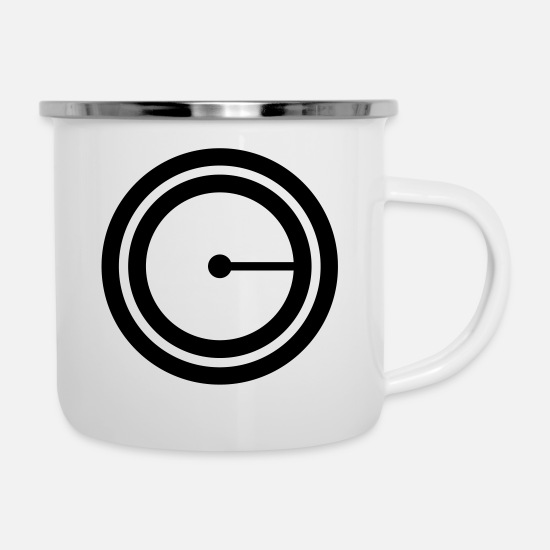 Bass Mugs & Drinkware - Turntable - Enamel Mug white