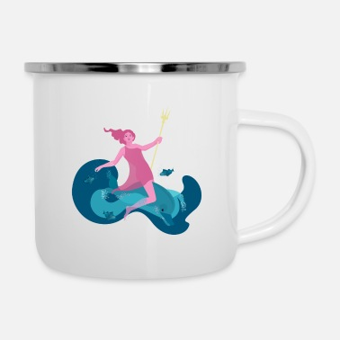Mythology Sea goddess Amphititre - Enamel Mug