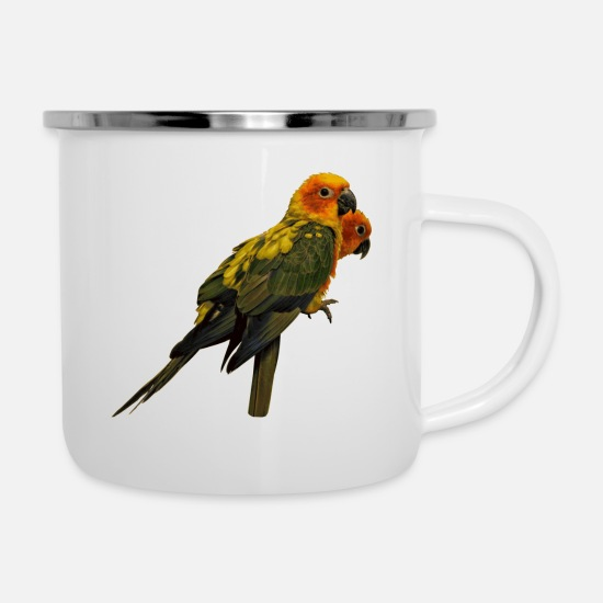 South America Mugs & Drinkware - Parakeets are very much at risk - Enamel Mug white