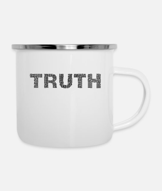 Peace Sign Mugs & Drinkware - Truth - Enamel Mug white