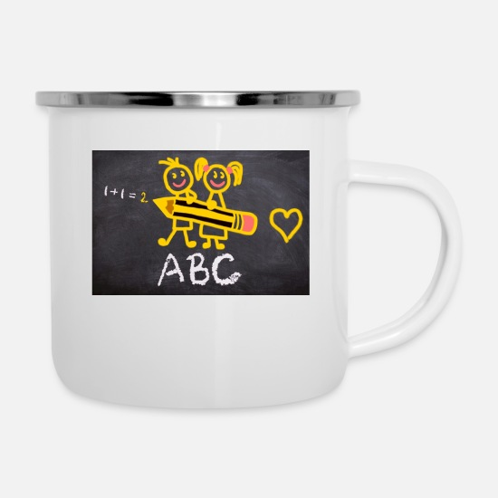 School Mugs & Drinkware - school - Enamel Mug white