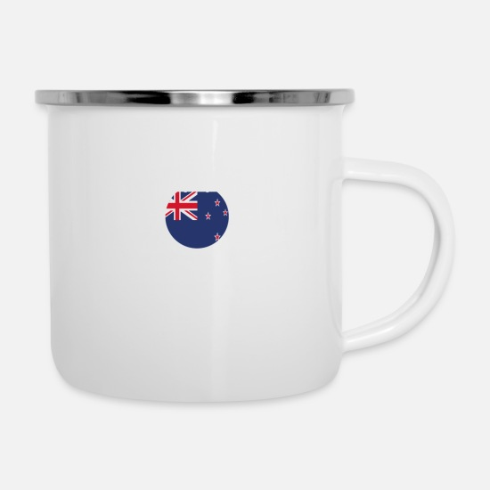 Love Mugs & Drinkware - I AM GENIUS CLEVER BRILLIANT NEW ZEALAND - Enamel Mug white