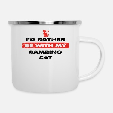 Bambino Cat Cat rather love at my BAMBINO CAT - Enamel Mug