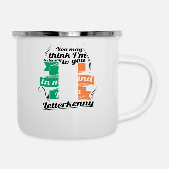 Travel Mugs & Drinkware - HOLIDAYS Ireland ROOTS TRAVEL IN IN Ireland Letterke - Enamel Mug white