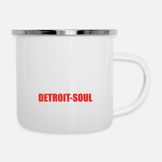 Love Mugs & Drinkware - Can explain word hobby love DETROIT SOUL - Enamel Mug white
