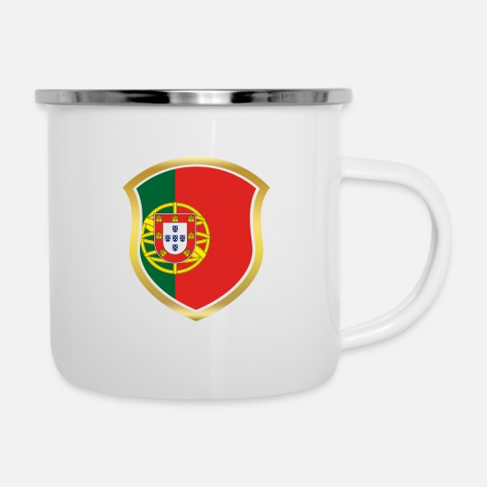 Soccer Mugs & Drinkware - World Champion 2018 wm team PORTUGAL portuge - Enamel Mug white