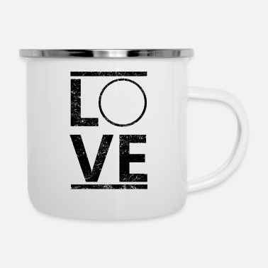 Liebe Dich PERSONALISIERBAR liebe calling hobby king meister - Emaille-Tasse