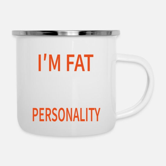Belly Mugs & Drinkware - Great personality - Enamel Mug white