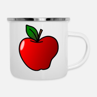 Clipart Apfel Clipart - Emaille-Tasse