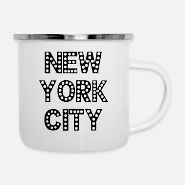 New York City - NY - Manhattan - NYC - Brooklyn - Enamel Mug