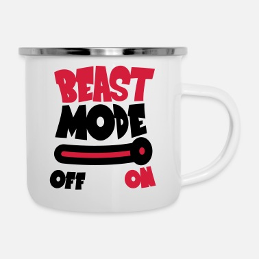Beast Mode Beast Mode On - Mug émaillé