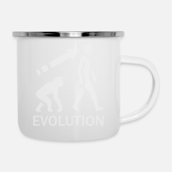 Evolution Mugs & Drinkware - evolution - Enamel Mug white
