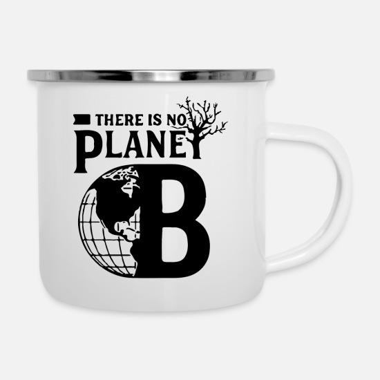 Waves Mugs & Drinkware - Planet B - Enamel Mug white