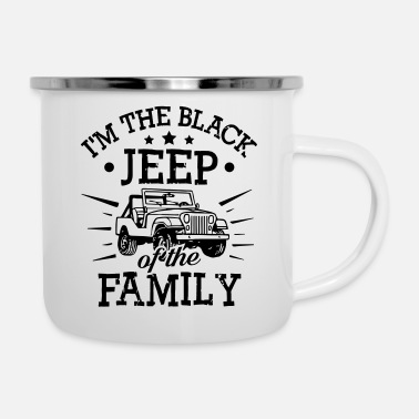 Black Black Jeep Of The Family - Emaille-Tasse