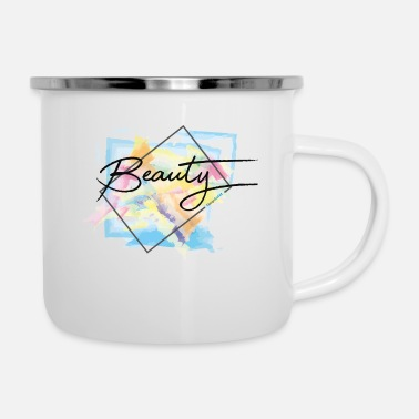 Beautiful beauty is beautiful or something - Enamel Mug