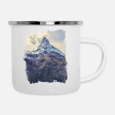 Nature Collection Berge & Diamonds - Emaille-Tasse