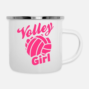 Volley volley girl - Emaille-Tasse